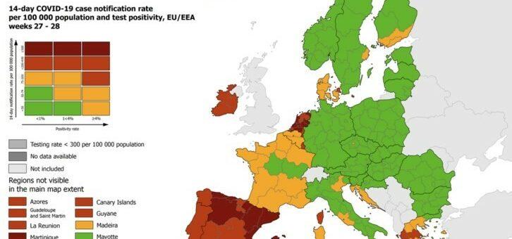 Het gaat weer de verkeerde kant uit met het coronavirus in Europa